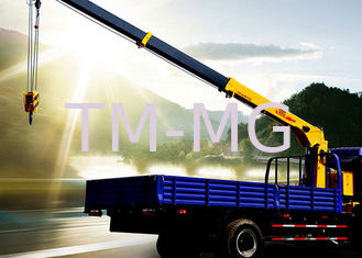 2120kg Durable heavy crane truck 5 ton Hydraulic Lifting / mobile telescoping boom crane